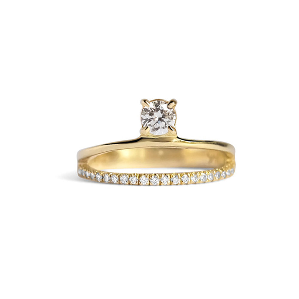 Floating Diamond Pavé Ring