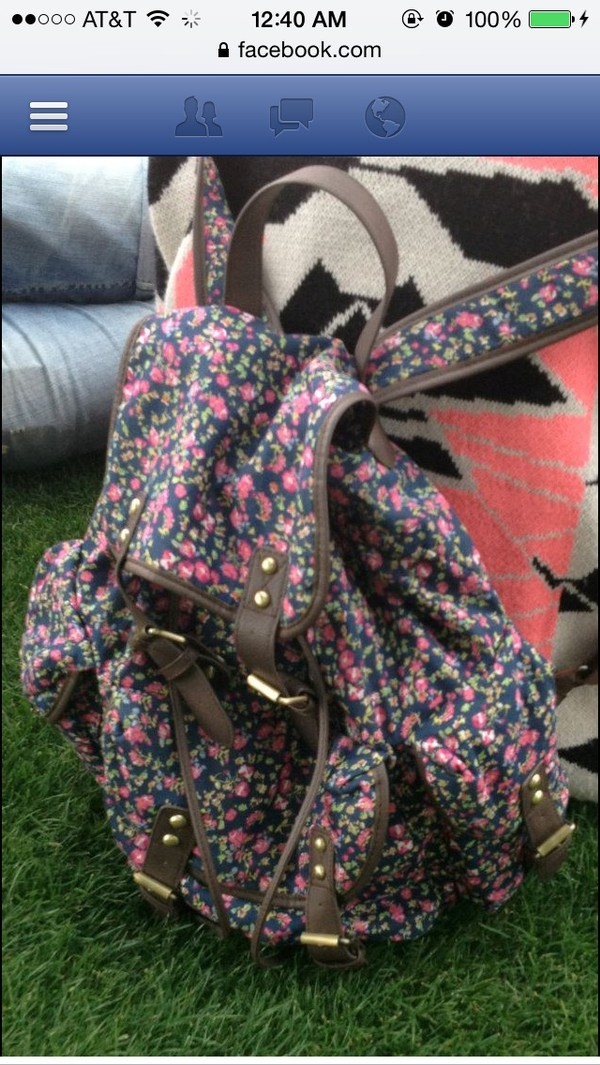 bag floral backpack floral backpack