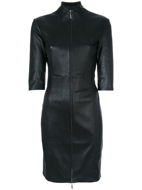 dress women spandex leather cotton black