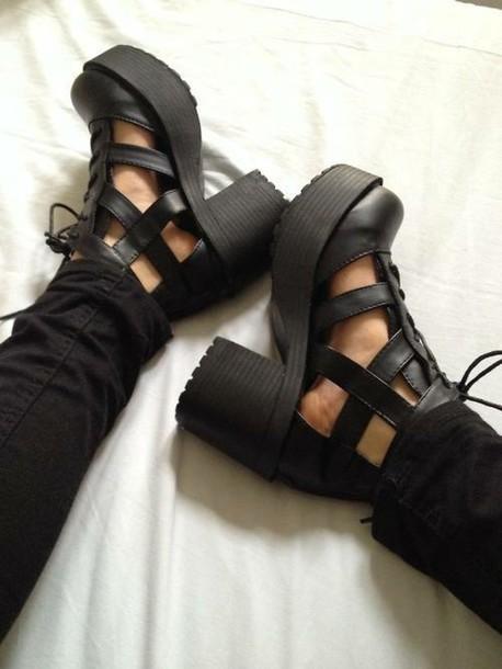 shoes grunge shoes grunge heels platform shoes