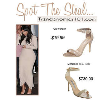 shoes chaos nude shoes blogger sandals heel sandals manolo blahnik kim kardashian