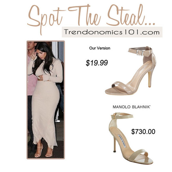 shoes nude shoes sandals chaos blogger heel sandals manolo blahnik kim kardashian