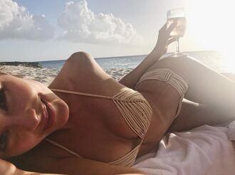 swimwear bikini bikini top bikini bottoms instagram beach summer olivia culpo