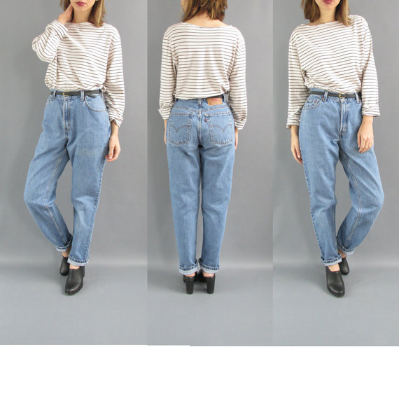 27 Boyfriend Jeans High Waist Denim - 90s High Waist Mom Jeans ...