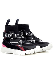 sneakers,knit,black,shoes