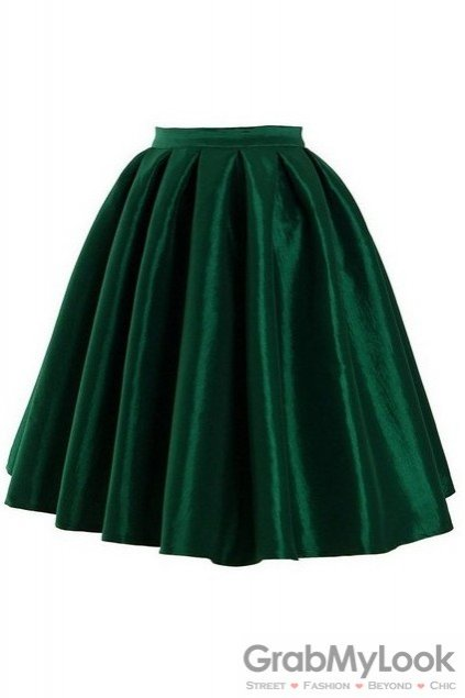 satin a line umbrella midi dress skirt
