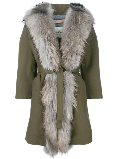 AVA ADORE coat fur women dog cotton green