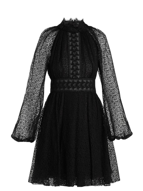 GIAMBATTISTA VALLI dress lace dress lace floral black