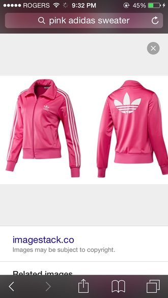 jacket pink adidas