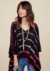 top,oversized,flowy,loose,blouse,stripes,boho,boho chic,casual,lovestitch,bohemian,tie dye,poncho style,poncho