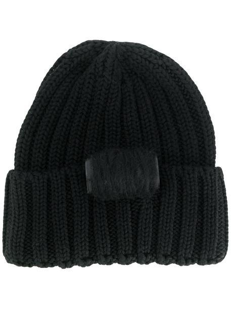 chic beanie knitted beanie black hat