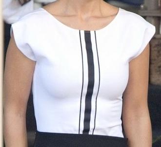 blouse flutter stripes