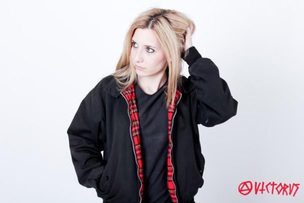 coat black harrington jacket