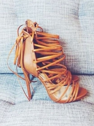 shoes nude sandals strappy heels