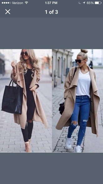 jacket camel draped front wool coat winter outfits trench coat khaki wool coat instagram fashion