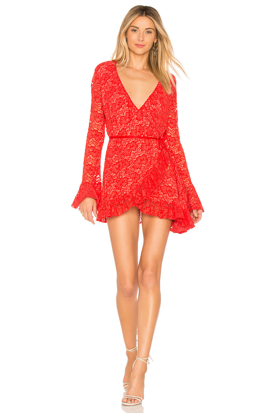 Hot As Hell Wrap Star Dress in red