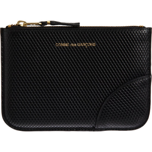 Comme des garçons luxury leather small zip pouch at barneys.com