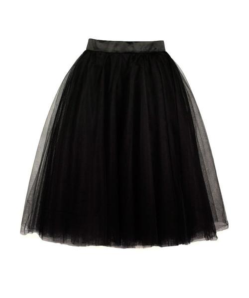 tutu midi skirt in black kitschy