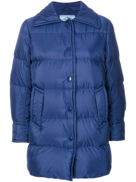 Prada coat women blue