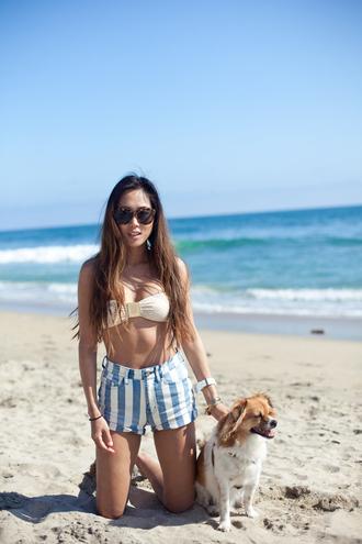 denim high waisted shorts song of style swimwear