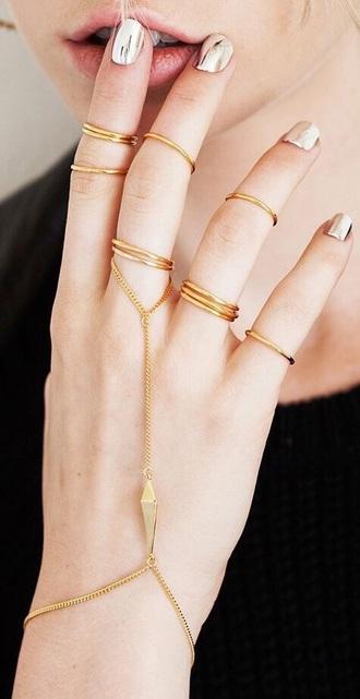nail polish nails shiny silver golden fragile girly nail summer spring winter outfits polish cool beautiful grunge shining