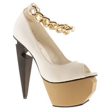 Womens White Privileged Mercer High Heels | schuh