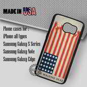 phone cover,america flag zombie art