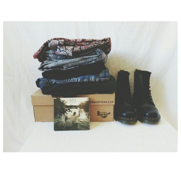 shoes denim DrMartens jeans sweater t-shirt