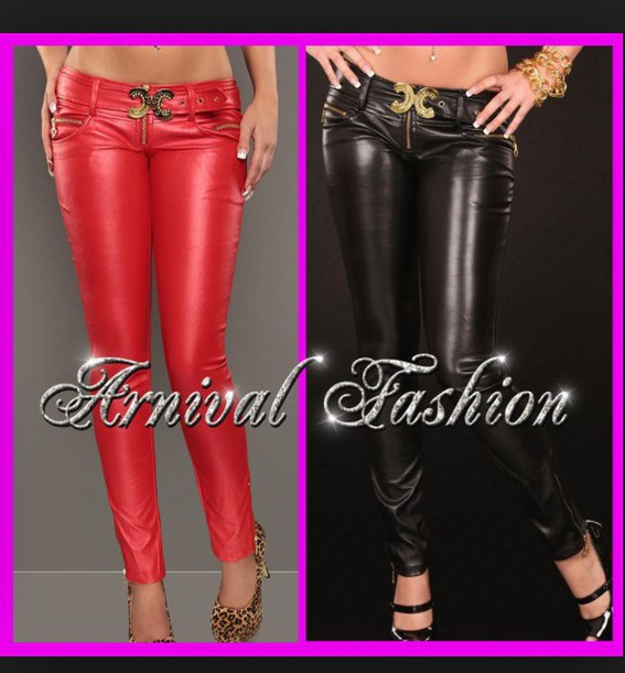 pants red/black