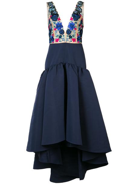 Marchesa Notte dress women floral blue