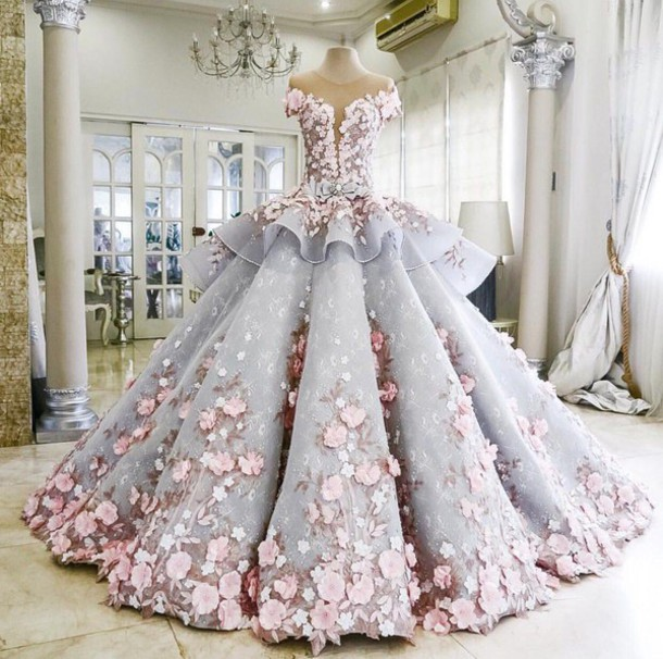 pink, pastel, prom dress, wedding dress