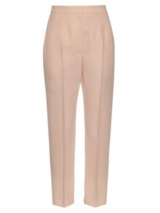silk wool pink pants