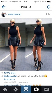 belt,black leather skirt,skirt,leather skirt,black,fringes,black skirt,sleeveless,shoes,fringe black skirt,clothes,black strappy caged heel,dress,mutswairo,fashion,fringed dress,boutique,trendy,club dress,clubwear,bodycon dress,bodycon,bodycon skirt,sexy dress,style,tassel