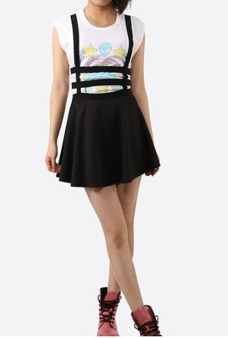 skirt black cute kawaii skateboard grunge sweet
