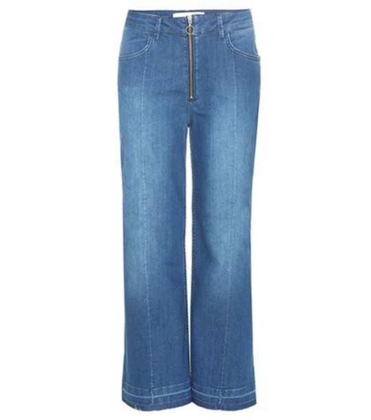 By Malene Birger Lesatian Wide-leg Cropped Jeans in blue