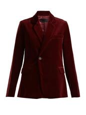 blazer,velvet,burgundy,jacket