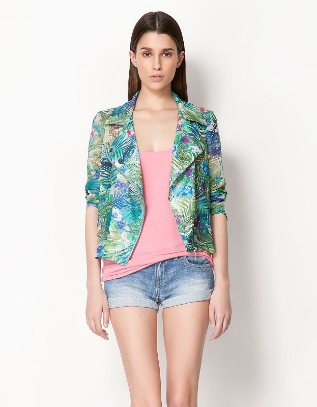 New Spring & Autumn 2014 Fashion Tropic Floral Plants Pattern Print Woman Blazers & Suits European And American Style ASS 2635-in Blazer & Suits from Apparel & Accessories on Aliexpress.com