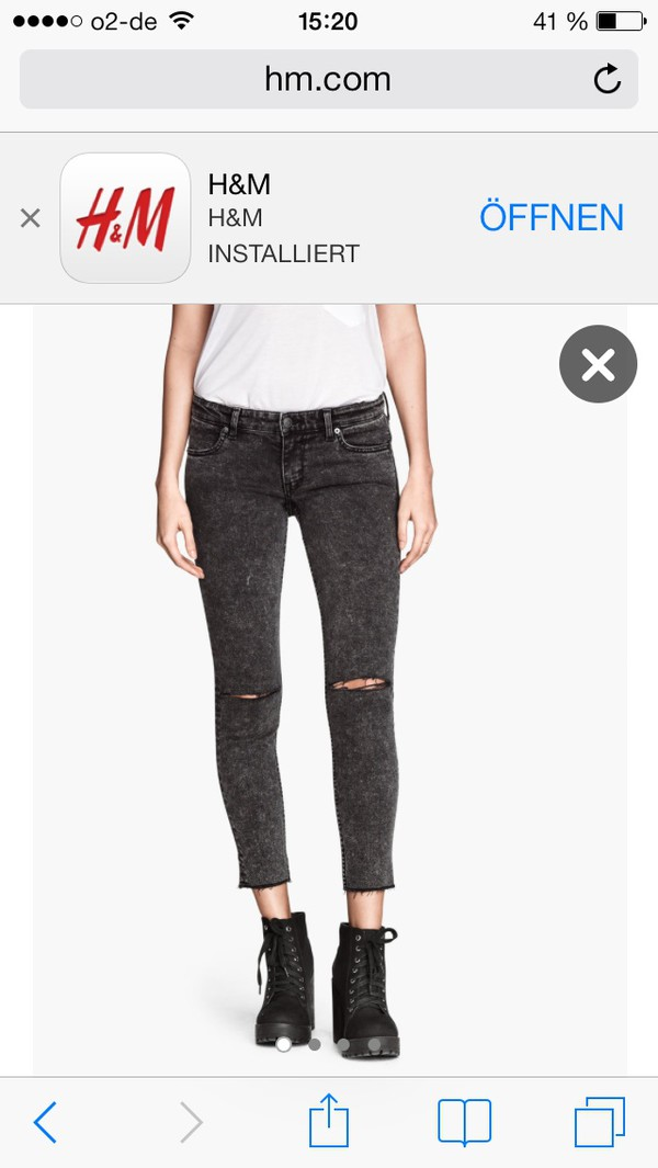 jeans jeans ankle skinny fit h&m