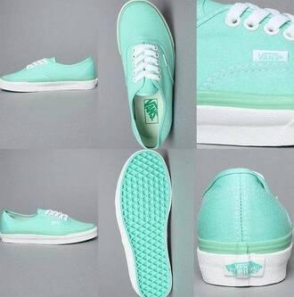 shoes mint vans sneakers