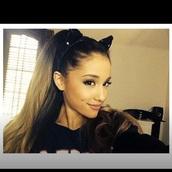 hair accessory,ears,cat ears,jewelry,jewels,headband,ariana grande,cat valentine,halloween