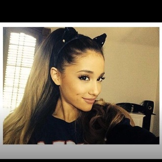 hair accessory ears cat ears jewelry jewels headband ariana grande cat valentine halloween