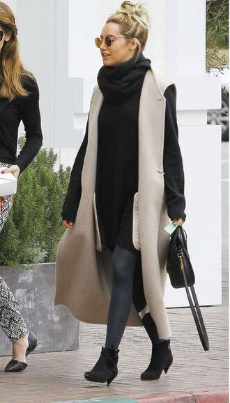 shoes ankle boots boots coat ashley tisdale sweater