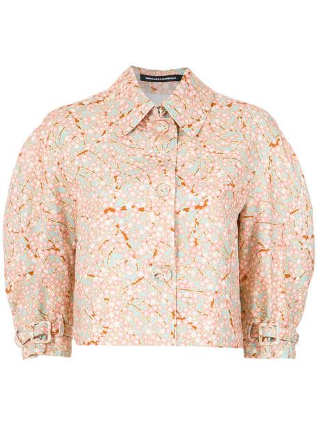 Reinaldo Lourenço jacket cropped jacket cropped women floral cotton
