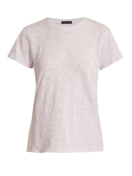 t-shirt shirt t-shirt cotton light purple top