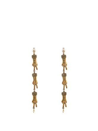 embellished earrings gold jewels