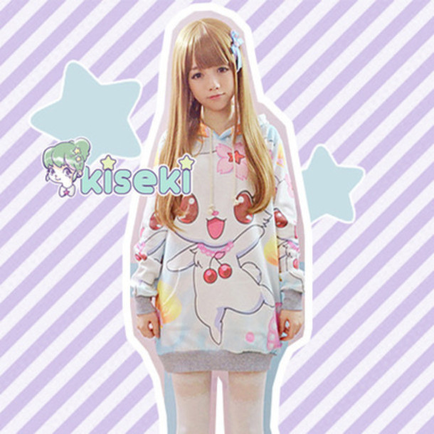 sweater kawaii oversized sweater pastel goth indie hipster