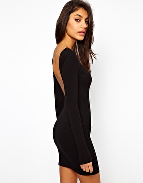 ASOS | ASOS Mini Body-Conscious Dress With Square Open Back at ASOS