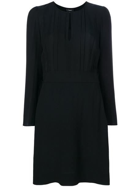 theory dress keyhole dress women black silk