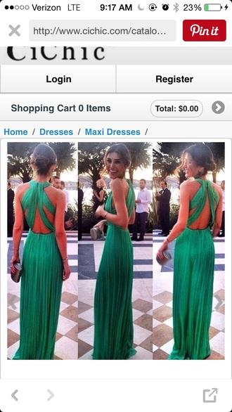 dress green cool back green dress prom dress prom gown chiffon dress