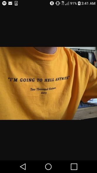 shirt mustard sarcasm shirt yellow orange
